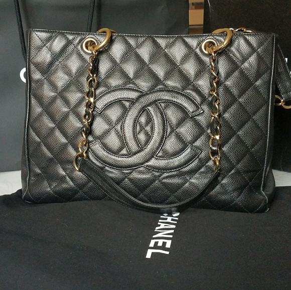 ed81bd2e6c32 CHANEL Bags | Gst Grand Shopping Tote Gold Hardware | Poshmark